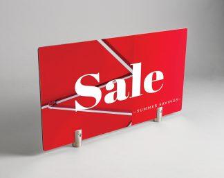 Flag Model Standoff on Sale Sign